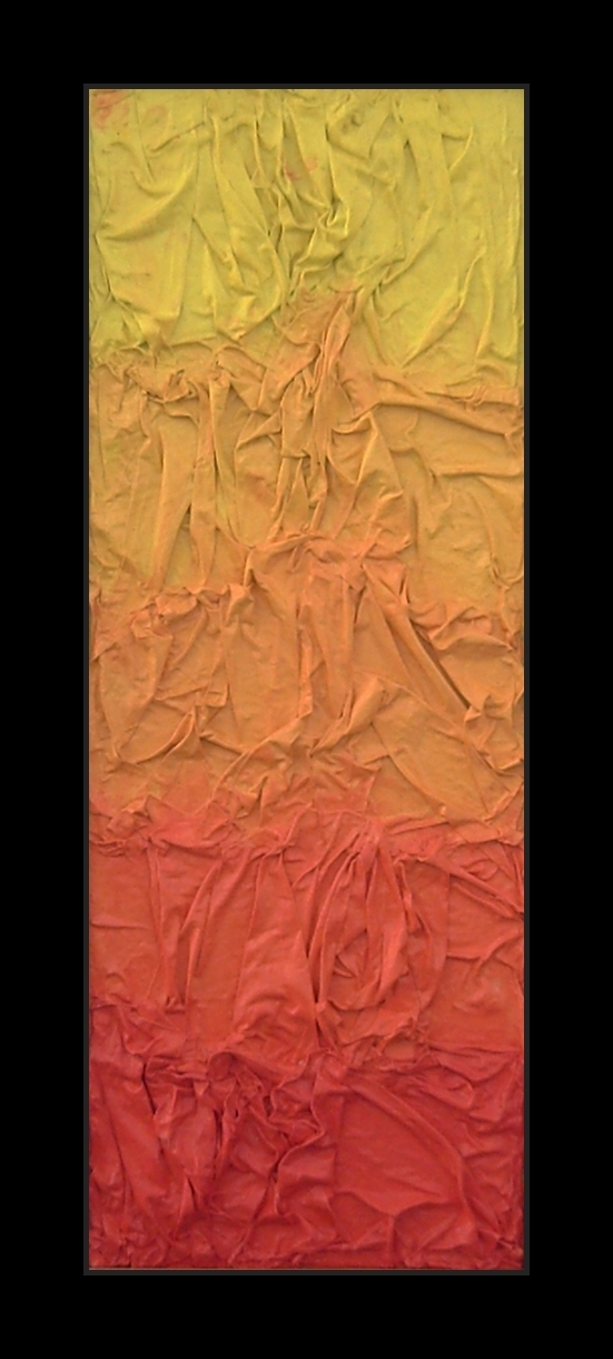 Tonal gradient of warm colors like yellow, orange and red. Abstract conceptual art. Tribute to Joy Division