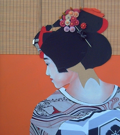 Maiko 06-Collage: The Hour of the Cockerel